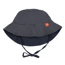 Splash & Fun, Solhatt - Polka Dots navy 0-6 mån