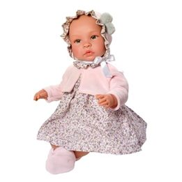 Asi, Babydocka - Leonora blommig 46 cm