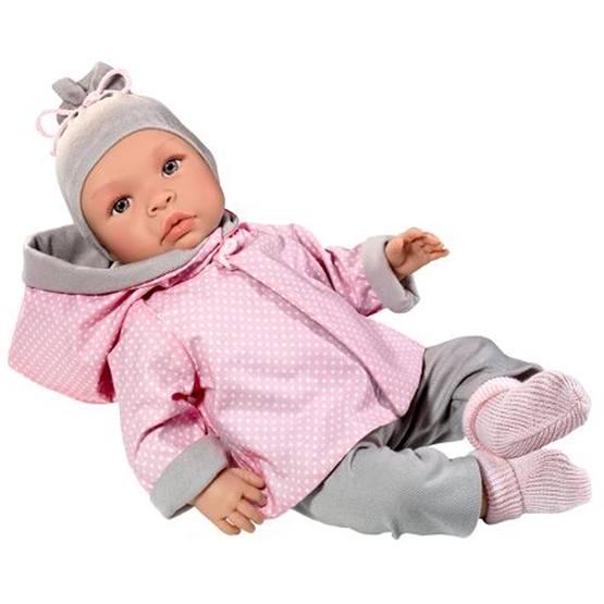 Asi, Babydocka Leonora 46 cm med rosa kläder