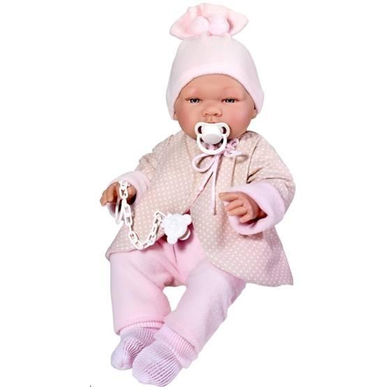 Asi, Babydocka Maria 43 cm med Ljusrosa kläder