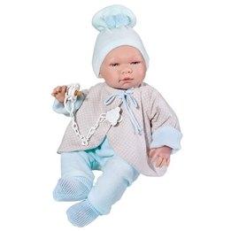 Asi, Babydocka Pablo 43 cm med Ljusblåa kläder