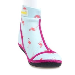 Duukies Beachsocks, Jet Flamingo stl. 32/33