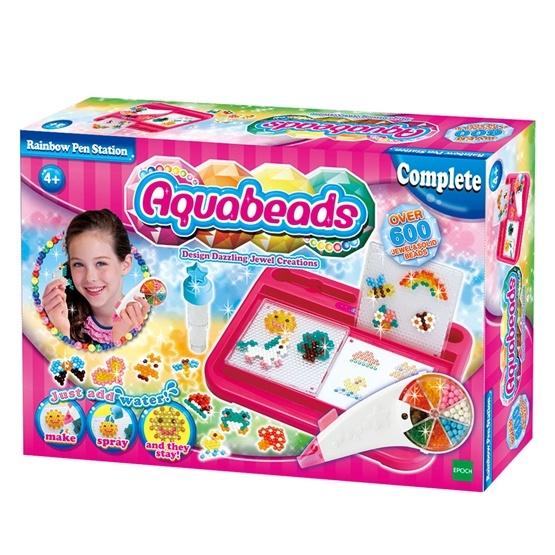 Aquabeads, Station med Regnbågspenna, 600 pärlor