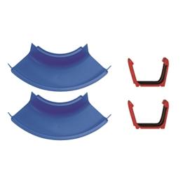 Aquaplay, Tillbehör set, 2 Kurvor med kopplingar