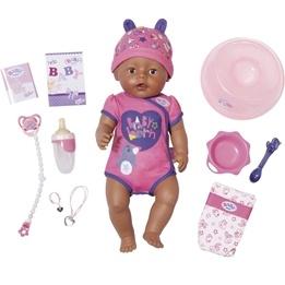 Baby Born, Interaktiv Docka Flicka bruna ögon 43 cm