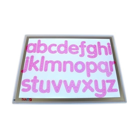 Ljusbordsmaterial, bokstäver A-Z