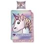 Emoji, Bäddset Unicorns 150x210 cm