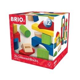 BRIO - 30114 Färgade träklossar - 25 st