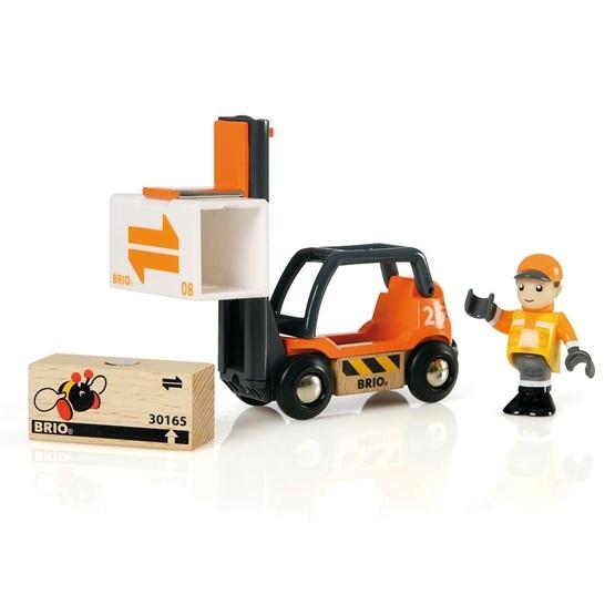 BRIO - Lift & Load 33573 Gaffeltruck med förare