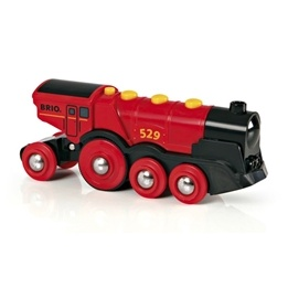 BRIO, Rail & Road 33592 Batteridrivet lok - The Mighty Red