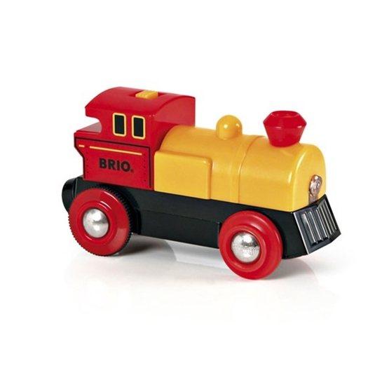 BRIO, Rail & Road 33594 Batteridrivet lok, röd/gul