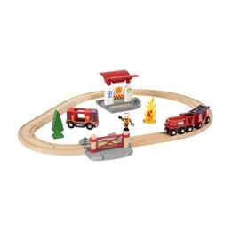BRIO - Rescue 33815 Tågset med brandmanstema