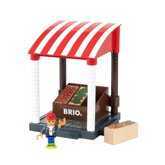 BRIO, Village 33946 Frukt- och grönsaksstånd