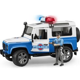 Bruder, Land Rover Polisbil och Polis 2595 1:16