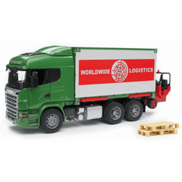 Bruder, Scania R-series Containerbil med truck 3580