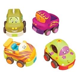 B.Toys, Wheeeee-ls Pull-back Bilar 4 st
