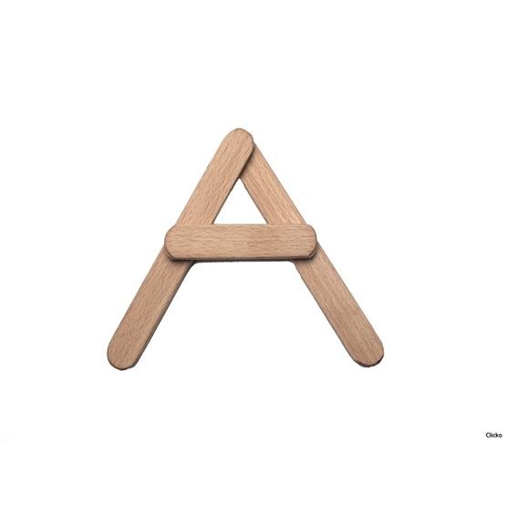 Clicko - A - bygg din bokstav med magnetisk byggsats