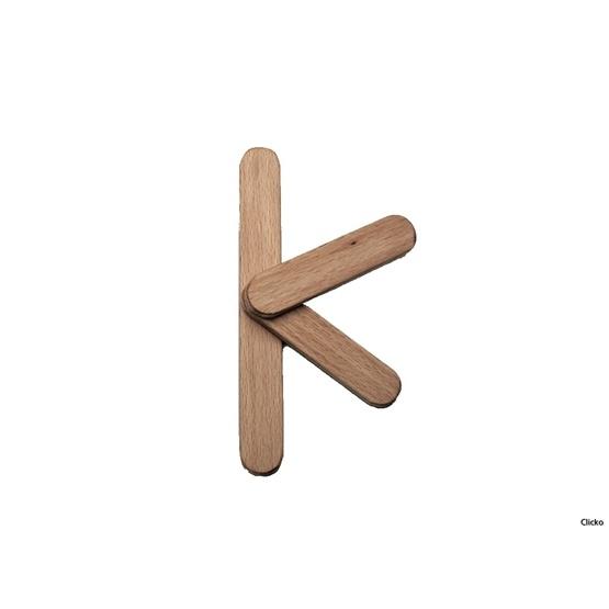 Clicko - K- bygg din bokstav med magnetisk byggsats