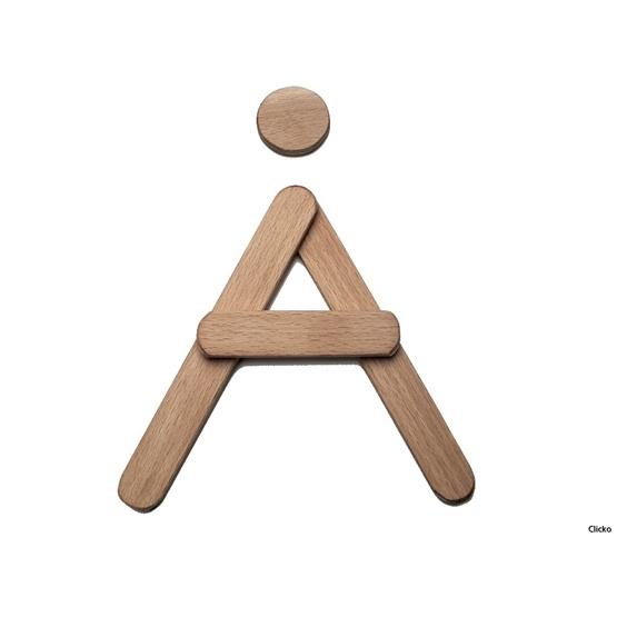 Clicko - Å- bygg din bokstav med magnetisk byggsats