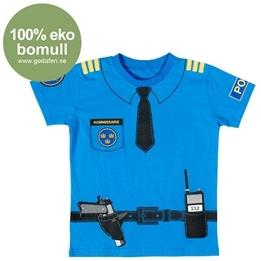 Den Goda Fen, Polis T-shirt 100 % Eko 7-9 år