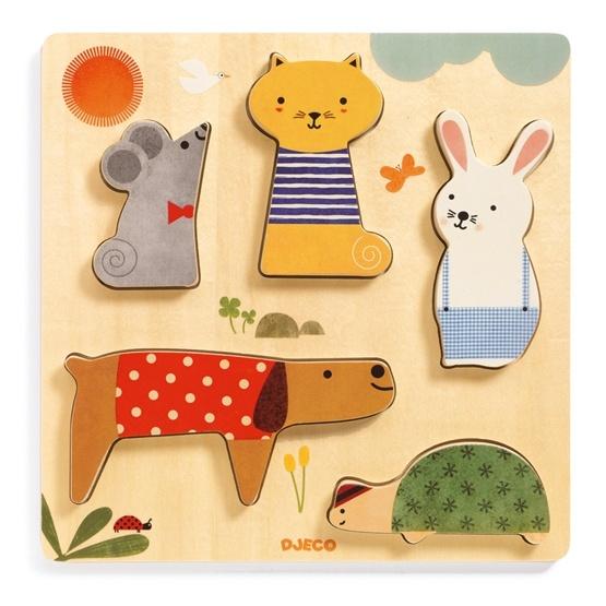 Djeco - Reliefpuzzle - Woodypets