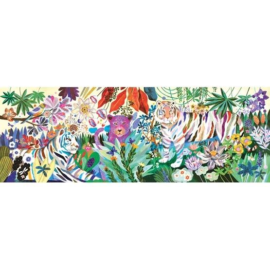 Djeco - Puzzle Gallery - Rainbow Tigers