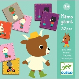 Djeco - Memo Giant - Friends