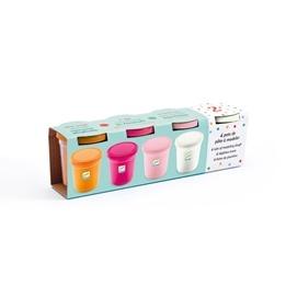 Djeco - 4 Tubs Of Play Dough - Sweet