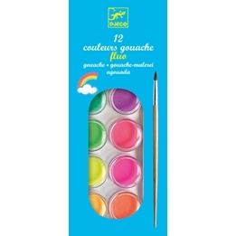 Djeco - 12 Color Cakes - Neon