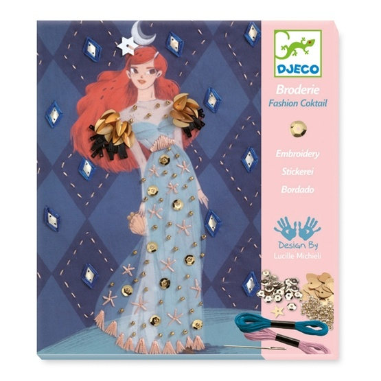 Djeco - Broderie - Fashion Coctail