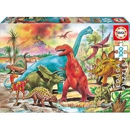 Educa, Dinosaurier Pussel 100 Bitar