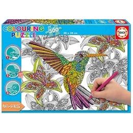 Educa, Färgläggningspussel - Hummingbird 300-bitar