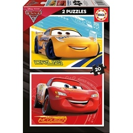 Educa, Disney Cars 3 - pussel 2x20 bitar