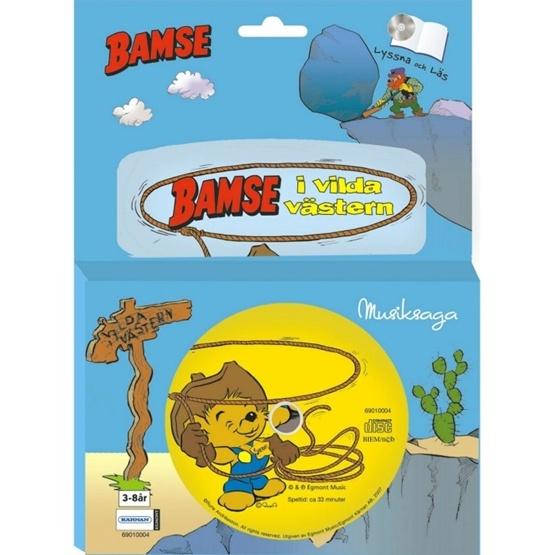 Bamse, Bamse i vilda västern Bok med CD