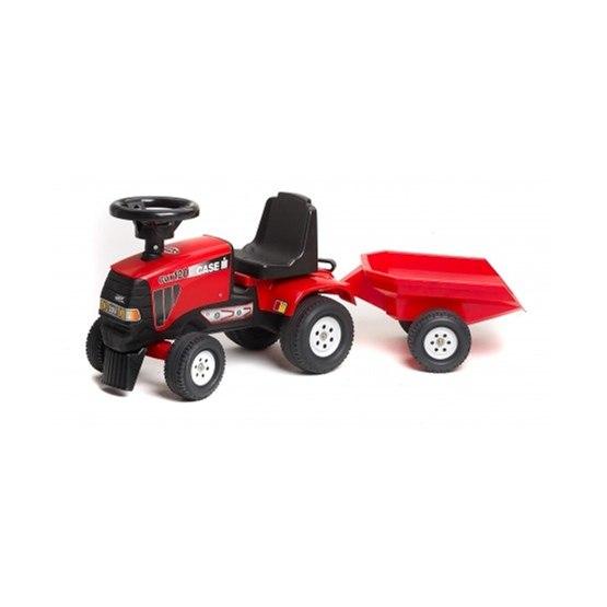 Falk, Traktor Case med Vagn Röd 1-3 år