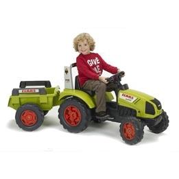 Falk, Traktor Claas med vagn Grön 3-7 år