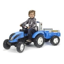 Falk, Traktor Landini med Vagn Blå 3-7 år