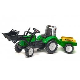 Falk, Traktor Farm Lastare med Vagn Grön 3-7 år