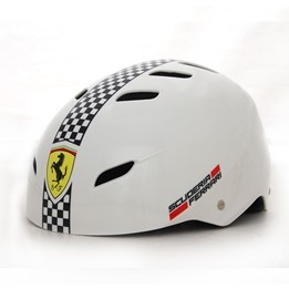 Ferrari, Skatehjälm justerbar medium, vit