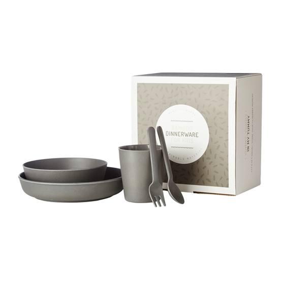 Filibabba, EKO Bamboo Servisset Dark Grey