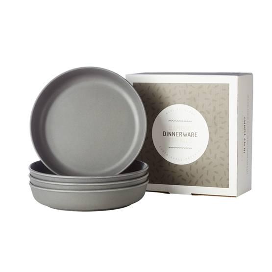 Filibabba, EKO Bamboo 4 x Tallrikar Dark Grey