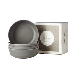 Filibabba, EKO Bamboo 4 x Skålar Dark Grey