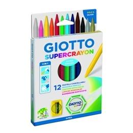 Giotto, Plastvaxkritor 12-pack