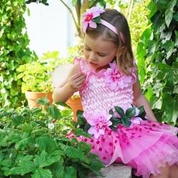 Great Pretenders, Blomsterklänning Deluxe Rosa 5-6 år