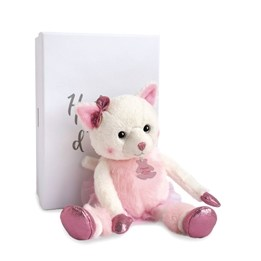 Histoire d'Ours, Misty Katt Rosa i låda 25 cm