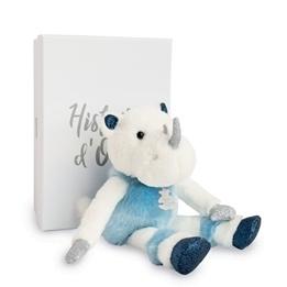 Histoire d'Ours, Rhinou Noshörning Blå i låda 25 cm