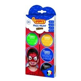 Jovi - Ansiktsfärg Superhjältar 6 burkar 8ml med pensel