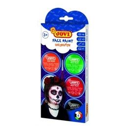 Jovi - Ansiktsfärg Halloween 6 burkar 8ml med pensel