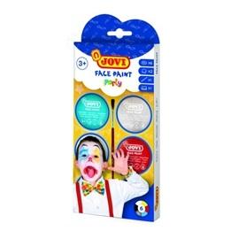 Jovi - Ansiktsfärg Party 6 burkar 8ml med pensel