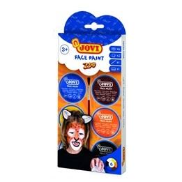 Jovi - Ansiktsfärg Zoo 6 burkar 8ml med pensel